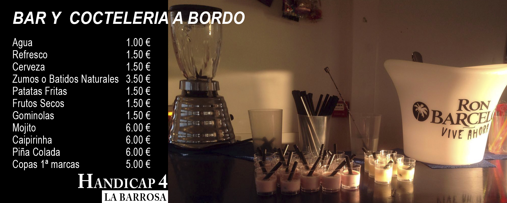 Bar y cocteleria a bordo
